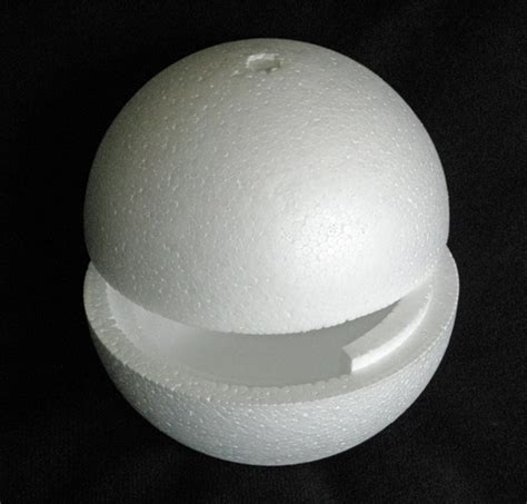 polystyrene plastic balls spheres eggs solid hollow