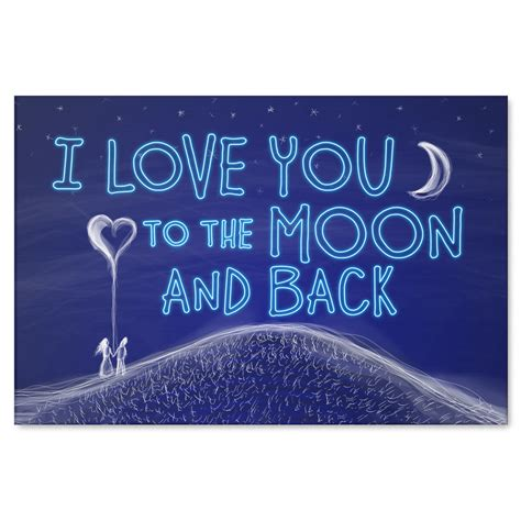 i love you to the moon and back tattoos quot i you to the moon and back quot canvas wall gearden