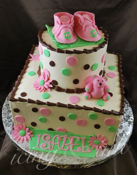 baby shower cake  isabel icing  ink blog
