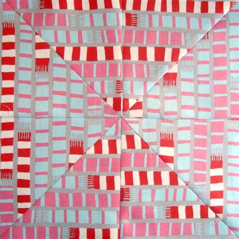 Mitered Corner Quilt by Mitered Corner Quilt Block Tutorial With Striped Fabric