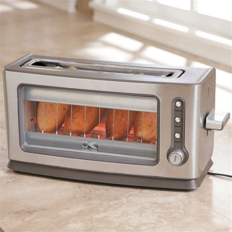 Clear Glass Toaster new toaster has clear appeal cnet