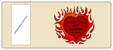 Hot Sauce Bottle Wedding Label Label Templates Ol5925 Onlinelabels Com Sauce Bottle Label Template