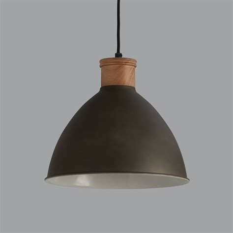Wooden Light Pendant Cement Grey And Wood Pendant Light By Horsfall Wright Notonthehighstreet