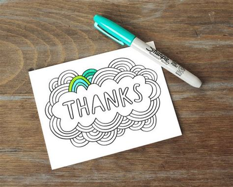 Thank You Letter Design Ideas greeting card thanks color your own diy thank you