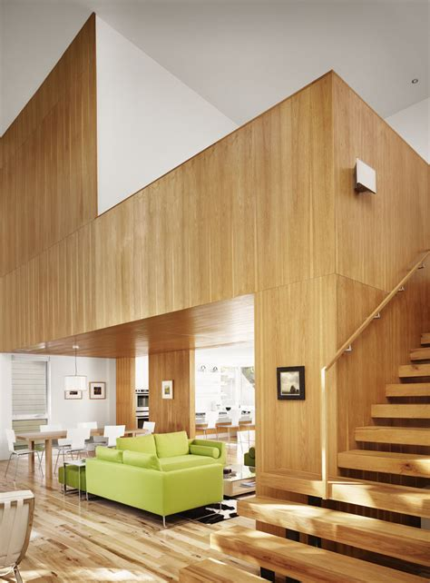 wood walls in house house of the month captured spaces an exercise in