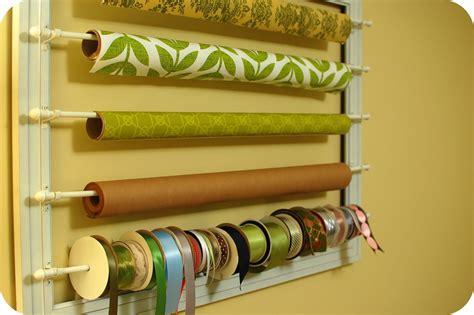 gift wrap wall organizer craft room organization