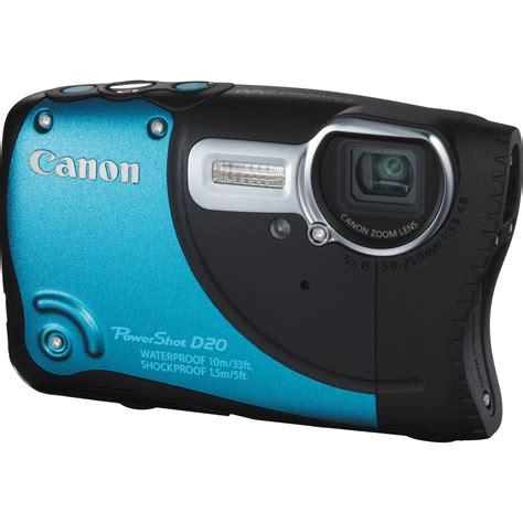 canon waterproof digital canon powershot d20 waterproof digital blue 6145b001