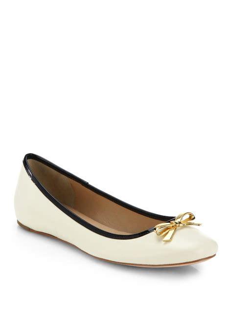 kate spade flat shoes kate spade villa ballet flats in white lyst
