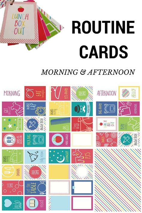 routine cards morning and afternoon be a