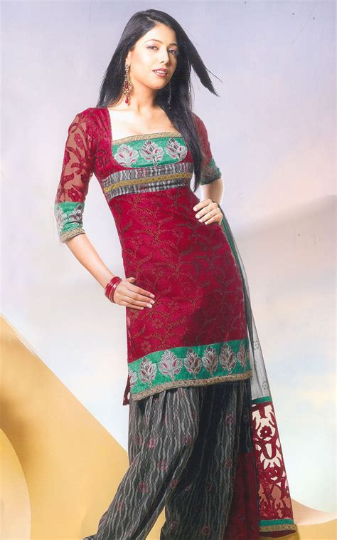 neck designs pattern salwar embroidery work and v neck pattern paired with matching