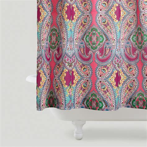 shower curtain paisley pink venice shower curtain world market