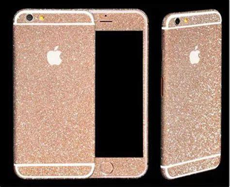 Glitter Skin Iphone 6 6s Silver wrap decal vinyl glitter sticker skin cover for