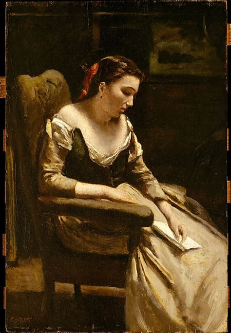 le mulier lettere camille corot the letter the met