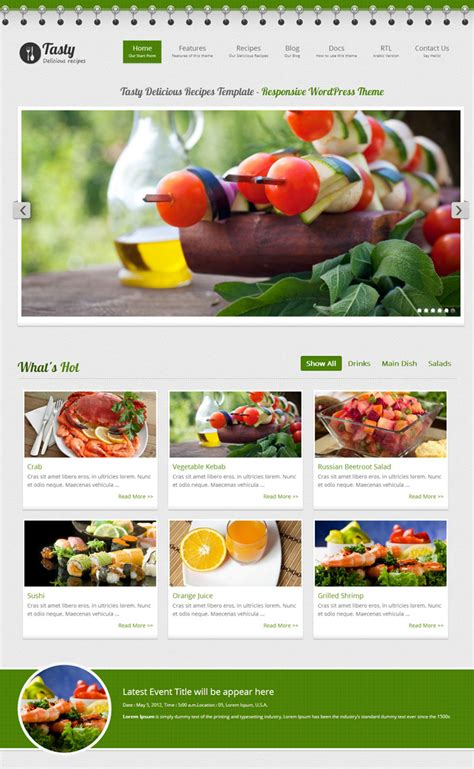 themes wordpress food 25 delicious wordpress themes for restaurants and cafes
