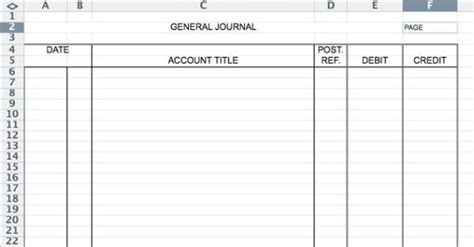 5 General Journal Templates Formats Exles In Word Excel Sales Journal Template Excel