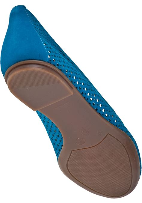 Flat Shoes Blue S30102 1 lyst sole league ballet flat turquoise suede in blue