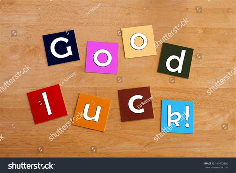 luck banner template luck best wishes sign greeting stock photo 161073890