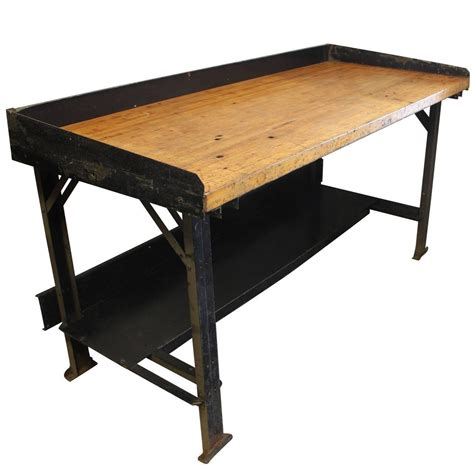 Vintage Industrial Work Table For Sale At 1stdibs