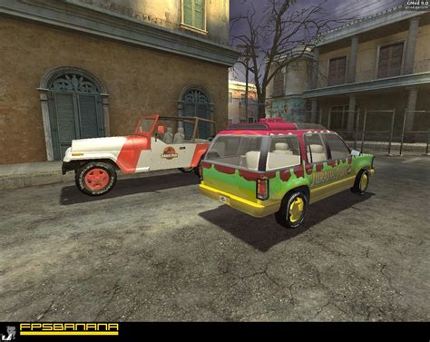 jurassic park car jurassic park car model pack garry s mod skin mods