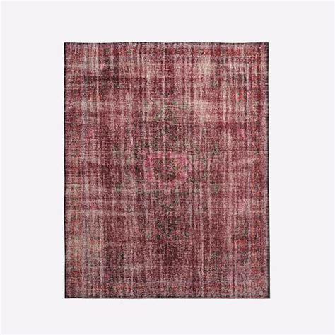 caspian rugs caspian distressed rug pomegranate west elm