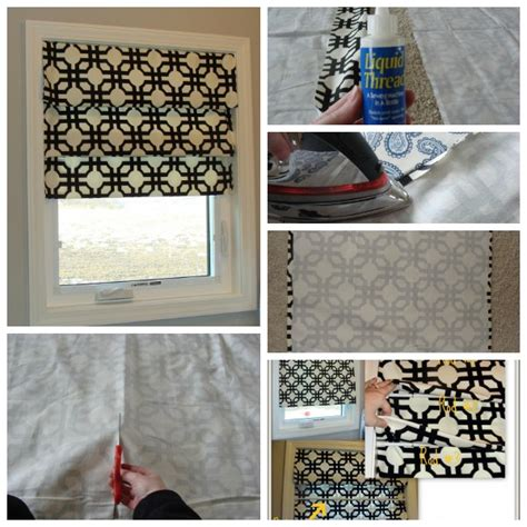 how to make roman curtains no sew faux roman blinds ideas video instructions