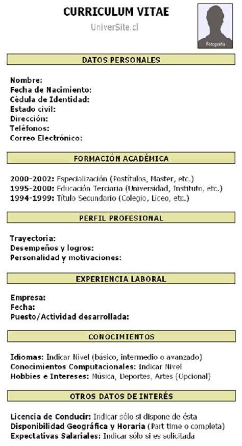 Modelo De Curriculum Vitae Experiencia Argentina Como Hacer Un Curriculum Vitae Como Hacer Un Curriculum Experiencia Laboral