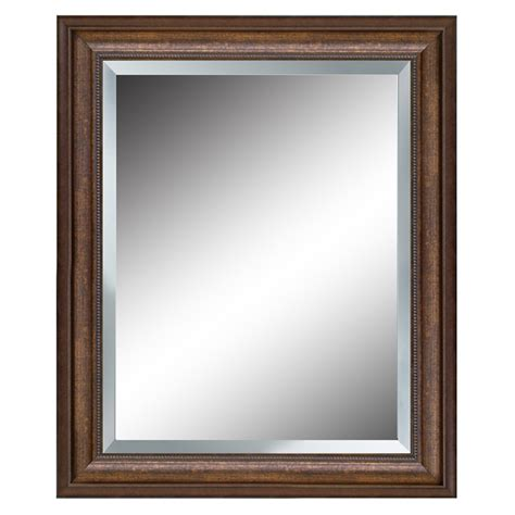shop allen roth bronze beveled wall mirror at lowes - Wall Mirrors