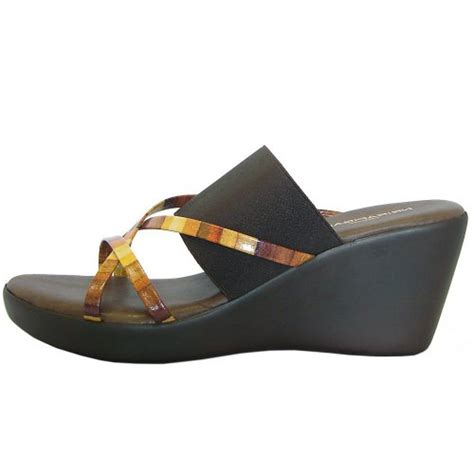 nr rapisardi 9296 wedge sandals in patent yellow and