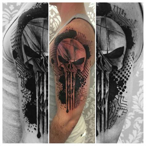 the punisher tattoo punisher skull by johnnyjinx at the broken clover social