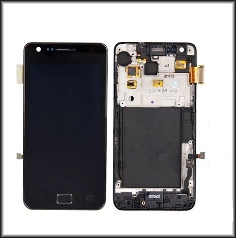 Lcd Mobil samsung galaxy s2 i9100 lcd touch digitizer screen frame