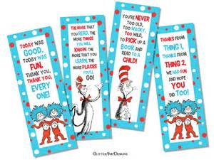 dr seuss thing 1 thing 2 inspired bookmark party favor tag pdf