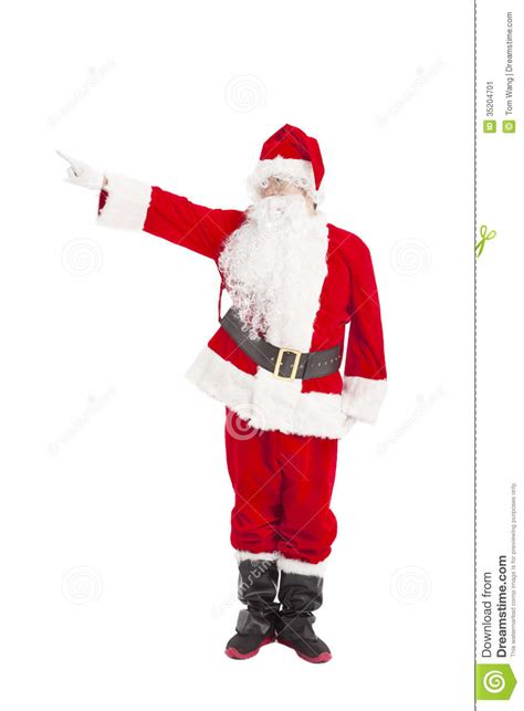 santa claus standing and pointing stock image image