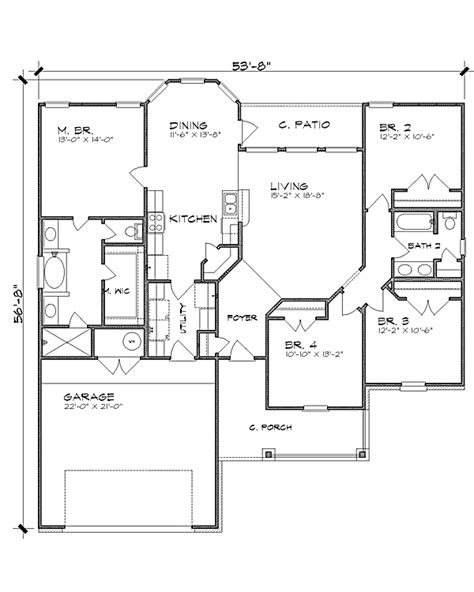 oakwood floor plans the oakwood 4221 4 bedrooms and 2 5 baths the house