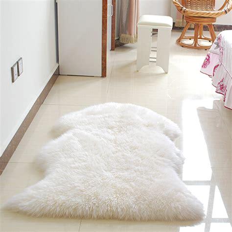 Bedroom Fur Rug Plain Soft Fluffy Bedroom Faux Fur Single Sheepskin