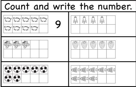 Belajar Menulis Berhitung Melalui Sc lembar kerja matematika berhitung dan tulis untuk anak
