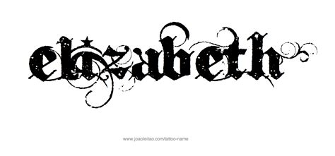 tattoo fonts kunal elizabeth name designs nombres