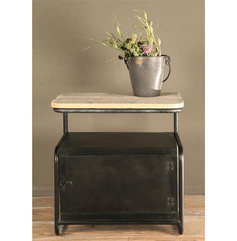 Locker End Table by Meyer Industrial Loft Iron Reclaimed Wood Locker Side