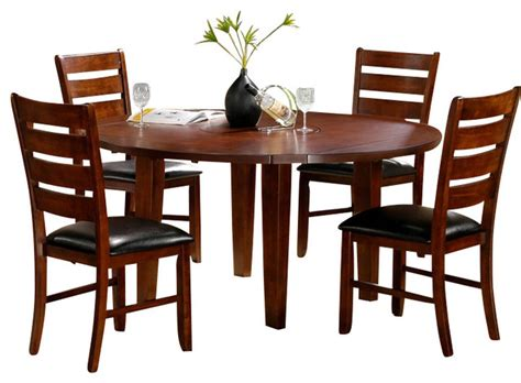 round dining room sets with leaf homelegance ameillia 6 piece drop leaf round dining room