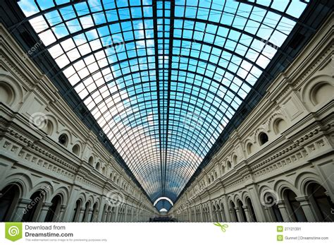 Building Ceiling by Perspective Skylight Glass Roof Of Building Stock Image Image Of Metallic Metal 27121391