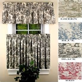 Kitchen Curtains Toile Toile Curtains Kitchen Remodel Toile