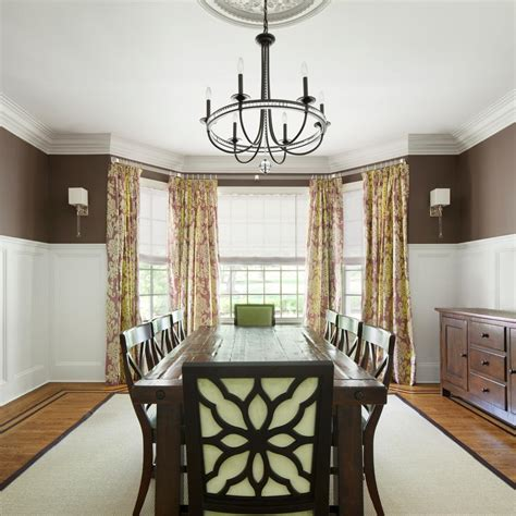 dining room bay window treatments photo page hgtv