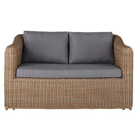 2 seater garden sofa 2 seater garden sofa in resin wicker with light grey
