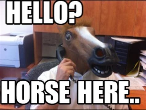 Horse Head Meme - horse here horse head mask know your meme