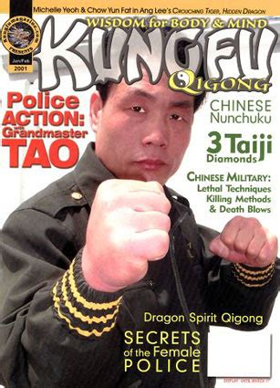 Dvd Martial Arts Alex Tao Iron And Power Meditation kungfu magazine 2001 january february issue