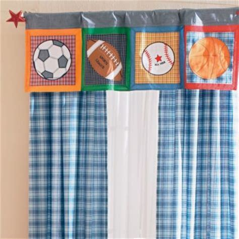 boys sports curtains window treatments colorful kids rooms