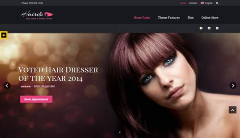 exles of hair websites barber shop website templates themes free premium
