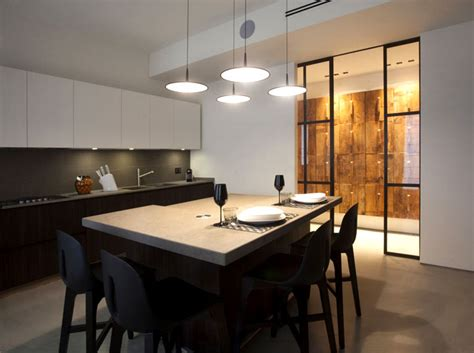 modern eclectic kitchen cosy eclectic apartment by fabio fantolino interiorzine