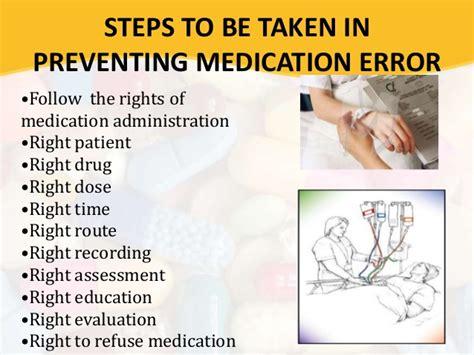 prevent medication errors medication error
