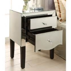 monaco mirrored dressing table stool and bedside tables