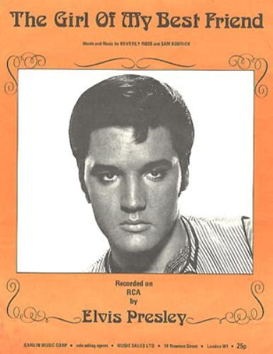 elvis presley the girl of my best friend elvis presley the girl of my best friend uk sheet music